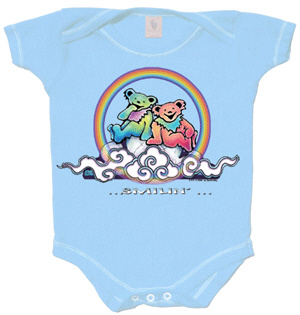 Grateful Dead - Smilin' Bears on a Cloud Romper / Blue