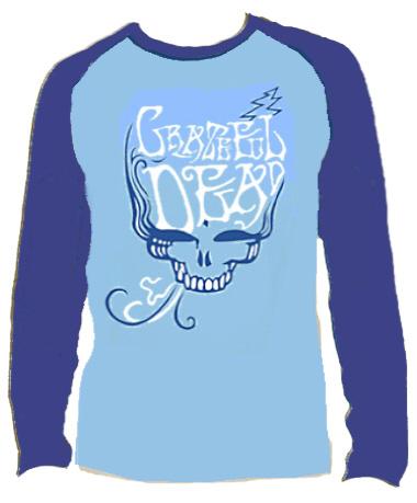 Grateful Dead - Blue Rose Smoke Long Sleeve T Shirt