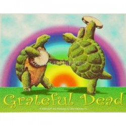 Grateful Dead - Dancing Turtles Playing Instruments Sticker