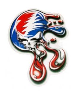 Grateful Dead - Melting Steal Your Face Sticker