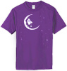 Jerry Garcia - Crescent Moon Purple T Shirt