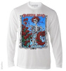 Grateful Dead - Bertha with Wheel and Roses White Long Sleeve Shirt