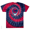 Grateful Dead - Cleveland Indians  Steal Your Base Tie Dye T Shirt