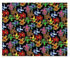 Grateful Dead - Dancing Bear Jumble Fleece Blanket