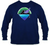 Jerry Garcia Winged Cat Long Sleeve (Size Small) Dark Blue  T Shirt