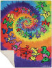 Grateful Dead - Spiral Bears Fleece Blanket