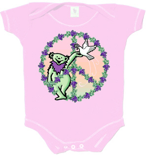 Grateful Dead - Bear in Peace Sign Infant Romper