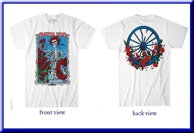 Grateful Dead - Fillmore Blue Short Sleeve T Shirt