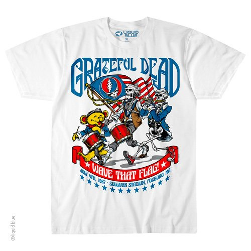 Grateful Dead - July 4th White T Shirt