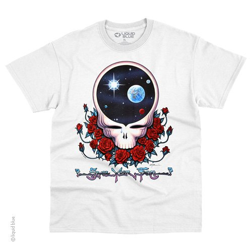 Grateful Dead - Space Your Face White Short Sleeve T Shirt