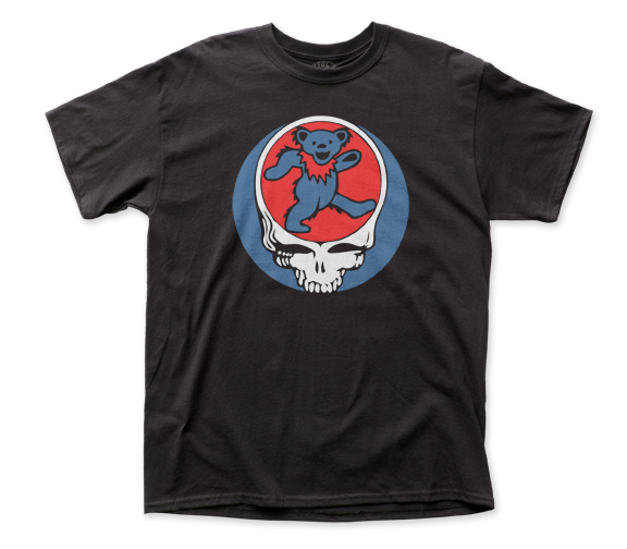 Grateful Dead - Skull and Roses Light Gray T Shirt