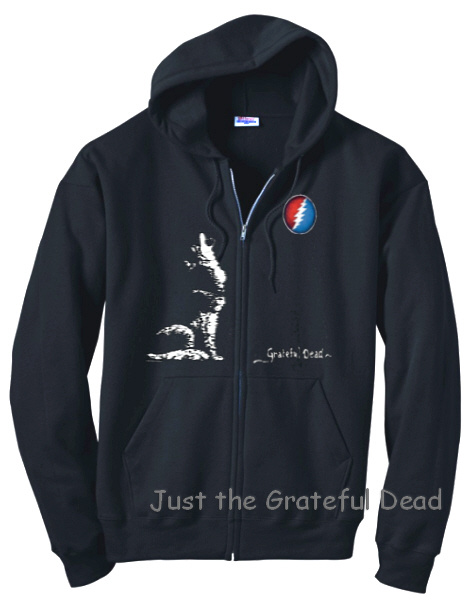 Grateful Dead - Steal Your Face Wolf Zip Up Hoodie