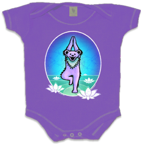 Grateful Dead - Row Of Dancing Bears Pink Baby Romper