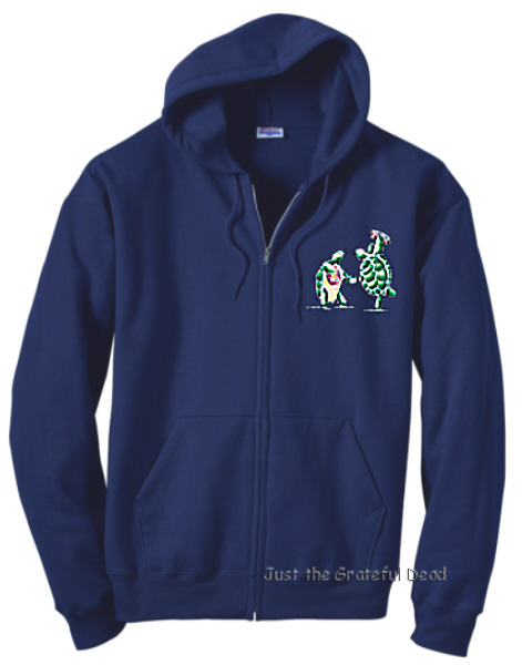 Grateful Dead - Terrapin Station Dark Blue Zip-Up Hoodie