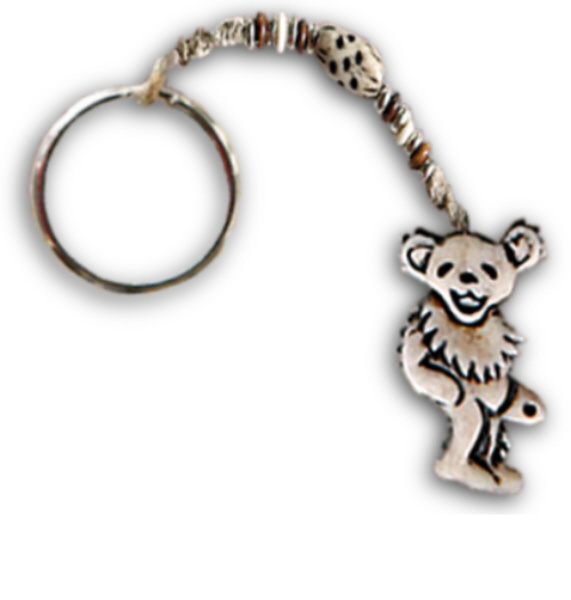 Image result for GRATEFUL DEAD DANCING BEAR BONE AND HEMP KEYCHAIN