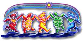 Grateful Dead - Rainbow Critters Window Sticker