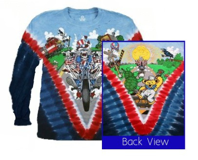 77870e2b7 The Grateful Dead's MOTORCYCLE SAM. Long Sleeve Tie-dyed T-shirt is made of  heavy weight 5.4 ounce 100% cotton with 2 needle stitching