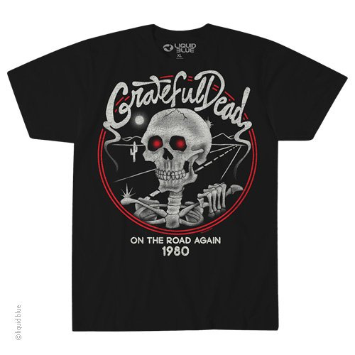 Grateful Dead - On The Road Again Black T Shirt