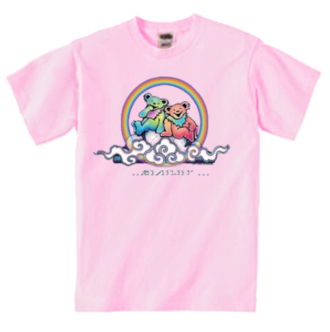 Grateful Dead - Smilin' Bear on a Cloud Youth T-Shirt/blue