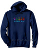 Grateful Dead - Row of Dancing Bears Navy Blue Hoodie