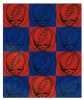 Grateful Dead - Steal Your Face Checker Board Fleece Blanket