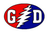 Grateful Dead - Bolt Red White And Blue Oval Sticker