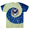 Grateful Dead - Milwaukee Brewers Steal Your Base Tie Dye T Shirt