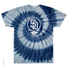 Grateful Dead - San Diego Padres Steal Your Base Tie Dye T Shirt