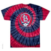Grateful Dead - St Louis Cardinals Steal Your Base Tie Dye T Shirt