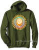 Grateful Dead - Steal Your Face Orange Pullover Olive Green Hoodie