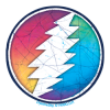 Grateful Dead - Sunshine Lightning Mini Sticker
