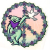 Grateful Dead - Peace Sign with Bear and Dove Sticker