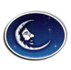 Jerry Garcia - Crescent Moon Oval Sticker