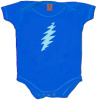 Grateful Dead - Lightning Bolt Blue Baby Romper