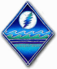 Grateful Dead - Lightning Moon Window Sticker